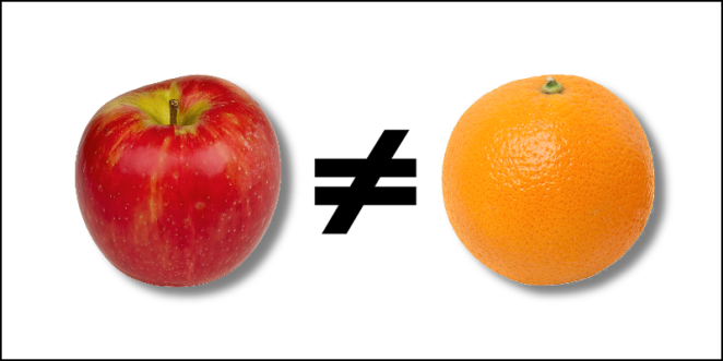 apples ≠ oranges