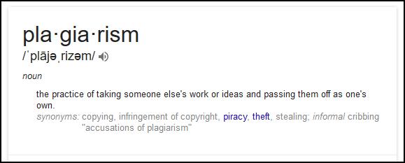 Plagiarism define