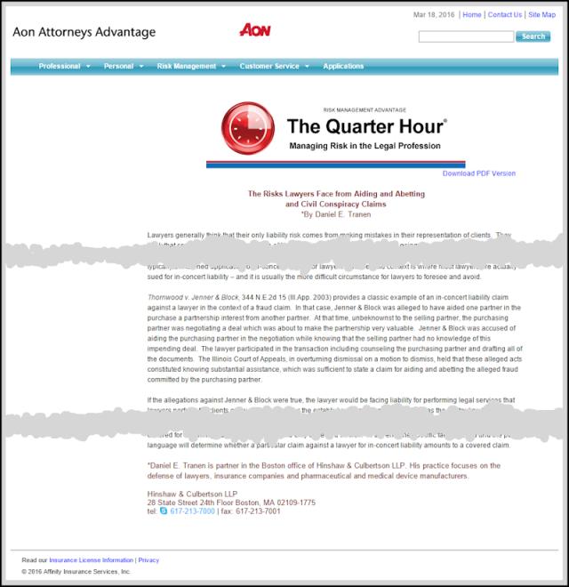 The Quarter Hour article