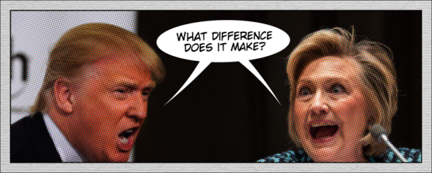 Trump and Hillary Cartoon 800 px