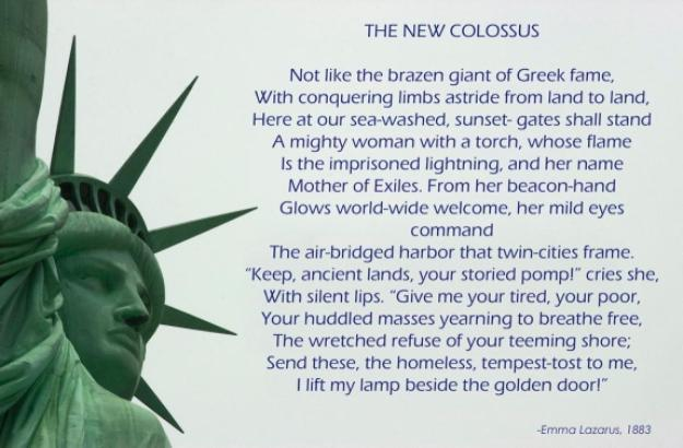 Image result for emma lazarus the new colossus