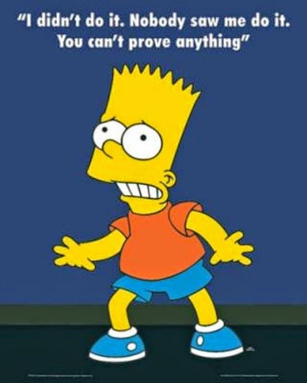 Image result for bart simpson denial I didn't do it