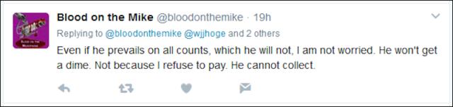 He won't get a dime