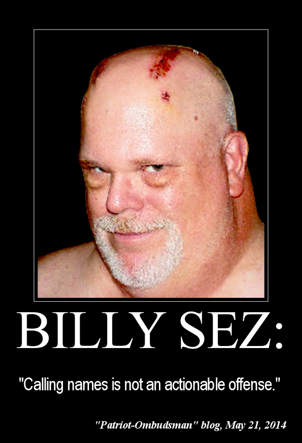 Billy Sez Calling names is not an 614x900