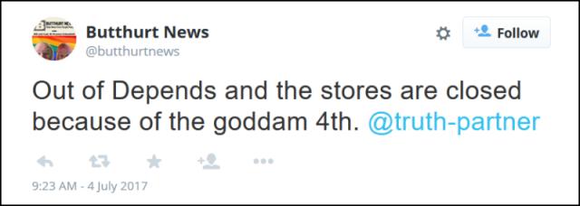 goddam 4th fake tweet