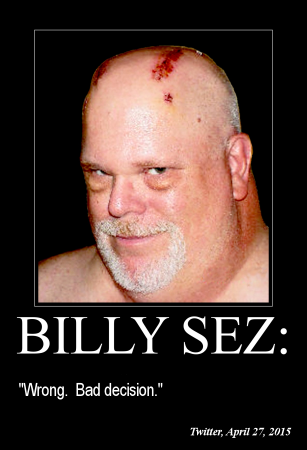 Billy Sez Wrong Bad decision 614x900
