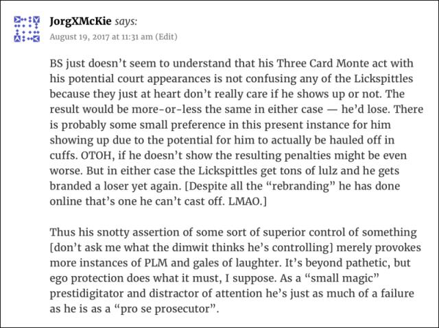 McKie's comment
